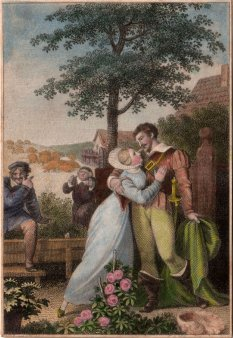 Carl August Schwerdgeburth (1785-1878), Fastnachtsspiel, Kupferstich nach H. Ramberg, D2011