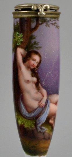 Die Sehnsucht, Porzellanmalerei, Pfeifenkopf, D2251
