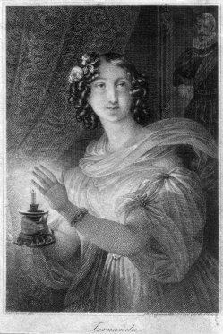 Franz Xaver Stöber (1795-1858), Fernanda, Stahlstich nach J. Ender, D2267-10