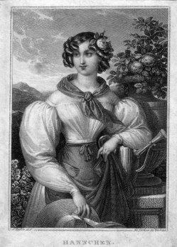 Franz Xaver Stöber (1795-1858), Hannchen, Stahlstich nach J. Ender, D1992