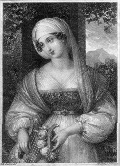 Franz Xaver Stöber (1795-1858), Mädchen mit Kopftuch, Kupferstichnach J. Ender, D2267-15