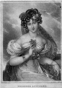 Franz Xaver Stöber (1795-1858), Prinzess Luitgard, Kupferstich nach j. Ender, D2267-01