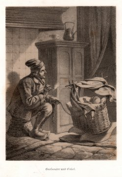 Großvater und Enkel, Farblithographie, D2236-3
