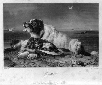 William French (1815-1898), Gerettet, Stahlstich nach R. Ansdell, D2269-2