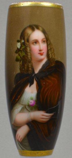 Adolf Henning (1809-1900), Wilhelmine Schroeder-Devrient, Porzellanmalerei, Pfeifenkopf, B0160