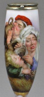 Louis-Leopold Boilly (1761-1845), L Automne, Porzellanmalerei, Pfeifenkopf, D1177