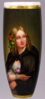 Wilhelmine Schroeder-Devrient (1804-1860), Porzellanmalerei, Pfeifenkopf, nach A. Henning, D1199