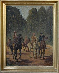 Fritz von Heider (1868-1947), Der Ausritt, D1724