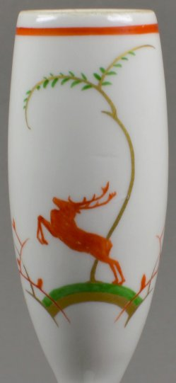 Springender Hirsch, Porzellanmalerei, KPM Berlin, Pfeifenkopf, D1792