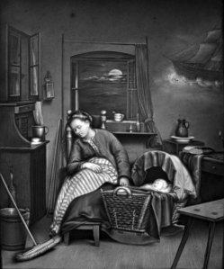 (PPM) 927 – Nachtwache am Kinderbett, Lithophanie, D1989-1