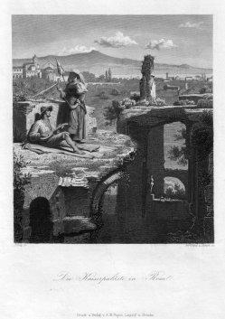 Bertrand und Simon, Die Kaiserpaläste in Rom, Stahlstich nach Piloty, D2293-3