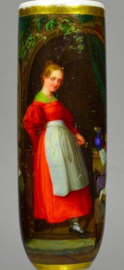 Die Victualienhändlerin, Porzellanmalerei, Pfeifenkopf, D2287