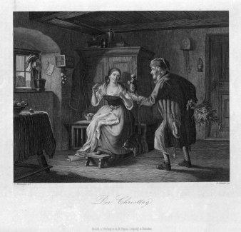 Eduard Schuler (1806-1882), Der Christtag, Stahlstich nach C. Naumann, D2293-1