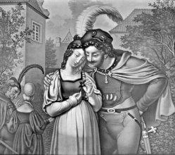 KPM 162 – Faust und Gretchen im Garten, nach M. Retzsch