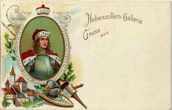 Kurfürst Friedrich I (1417-1440), Portrait, AK, D2080-01