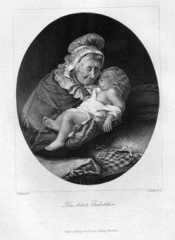 A. Hanisch, Das letzte Enkelkind, Stahlstich nach J. Geertz, D2332-4