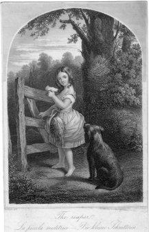 C. Defet & A. Fesca, Die kleine Schnitterin, Stahlstich nach Crowquill, D2333-7