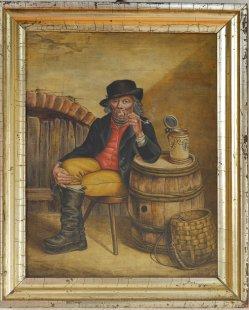 Carl Jacob Hermann Weiss (1822-1897), Pause mit Tonpfeife, Gemälde, D2301