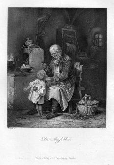 Carl Johann Koch (1806-1900), Der Apfeldieb, Stahlstich nach W. Roegge, D2332-5