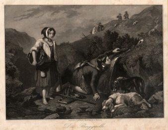 Die Bergquelle, Stahlstich, D1742