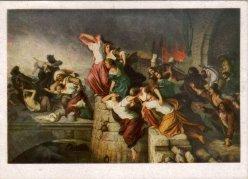 Eduard Steinbrück (1802-1882), Die Plünderung Magdeburgs im Dreißigjährigen Kriege, Spendenkarte, D2344