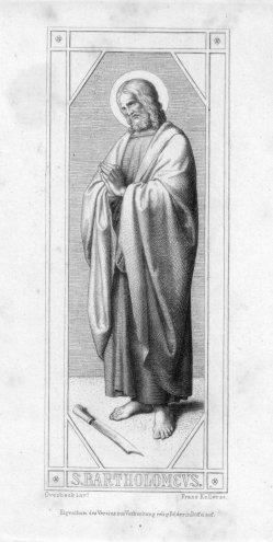 Franz.Keller (1821-1896), S. Bartholomeus, Radierung nach Overbeck, D2347-10