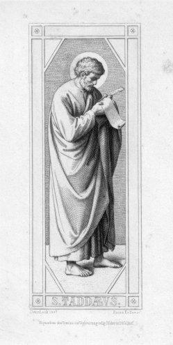 Franz.Keller (1821-1896), S. Taddaeus, Radierung nach Overbeck, D2347-05