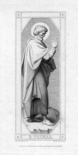 Franz.Keller (1821-1896), S. Thomas, Radierung nach Overbeck, D2347-06