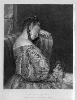 G.A. Periam, The fair Sleeper, Stahlstich nach H. Wyatt, D2090-10