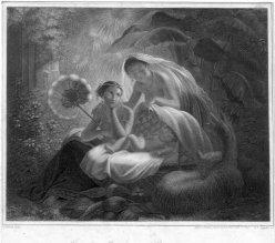 Johann Leonhard Appold (1809-1858), Indische Mädchen, Stahlstich nach Noack, D2333-6