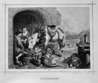 W. Baumann, Mittagsruhe, Atahlstich nach E. Landseer, D2260