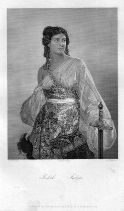 Albert Henry Payne (1812-1902), Judith, Stahlstich nach Riedel, D2375-10