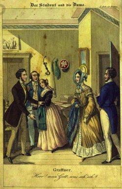Andreas Geiger (1765–1856), Der Student und die Dame, Stahlstich 1840, A0207