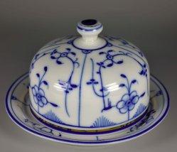 Butterdose, Strohblumenmotiv, Porzellanmalerei, D2349