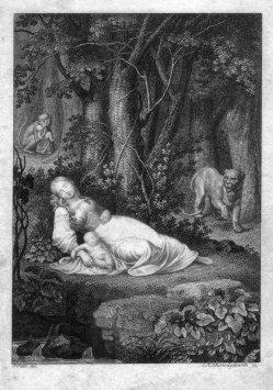 Carl August Schwerdgeburth (1785-1878), Kindesraub, Kupferstich nach J. Petzl, D2347-23