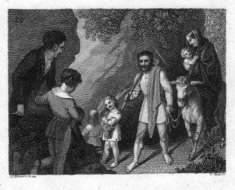 Carl Heinrich Rahl (1779-1843), Illustration, Stahlstich nacu L. Schnorr v. Carolsfeld, D2377-6