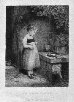 Eduard Schuler (1806-1882), Der erste Kummer, Stahlstich, D2385