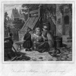 Eduard Schuler (1806-1882), Die kleinen Altklugen, Stahlstich nach F. Wieschenbrink, D2348-1