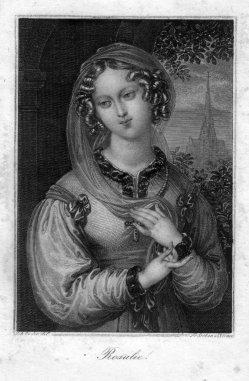 Franz Xaver Stöber (1795-1858), Rosalie, Stahlstich nach J. Ender, D2347-02