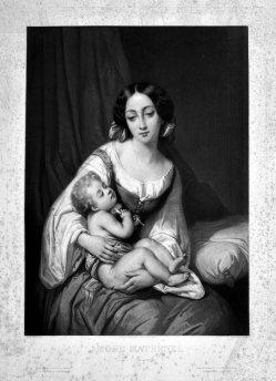 Hippolyte-Louis Garnier (1802-1855), Amour Maternel, Mezzotinto nach J. Beaume, D2360
