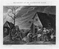 Ja. Neagle, Regaling at an Alehouse Door, Kupferstich nach Tilborgh und Craig, D2386-1-113