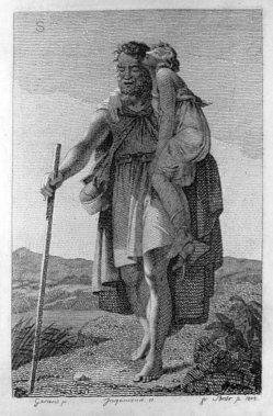 Johann Friedrich Bolt (1769-1836), Belisar, Kupferstich nach Baron Gérard, A0237