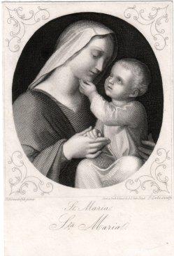 Peter Lutz (1799-1867), St. Maria, Stahlstich nach Schraudolph, D2347-01