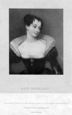 William Sharp (1803-1875), Portrait Amy Robsart, Lithographie nach G. Newton, D2339-2
