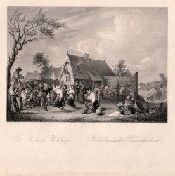 A. Carse, Niederländische Bauernhochzeit, Stahlstich nach D. Teniers II, D2390-4