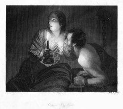 Albert Henry Payne (1812-1902), Cimon & Pera, Stahlstich nach G.v.Honthorst, D2395