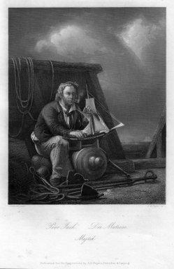 Albert Henry Payne (1812-1902), Der Matrose, Stahlstich nach N. Simonsen, D2399-1