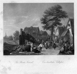 Albert Henry Payne (1812-1902), Ein ländliches Volksfest, Stahlstich nach D. Teniers II, D1487