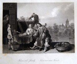 Brinkmann, Teniers mit seiner Familie, Stahlstich nach D. Teniers II, D1306