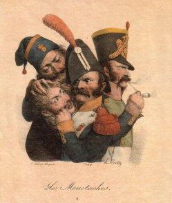Francois Séraphin Delpech (1778-1825), Les Moustaches, Lithographie nach L. Boilly, D2406.jpg